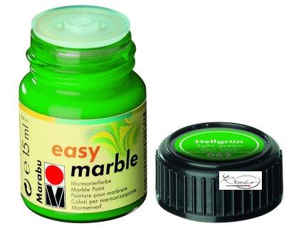 Mramorovací barva easy marble 15ml 062 zelená světlá