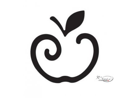 Děrovač modrý 22mm obrys - Jablko