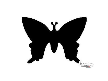 Děrovač modrý 22mm plný - Motýl