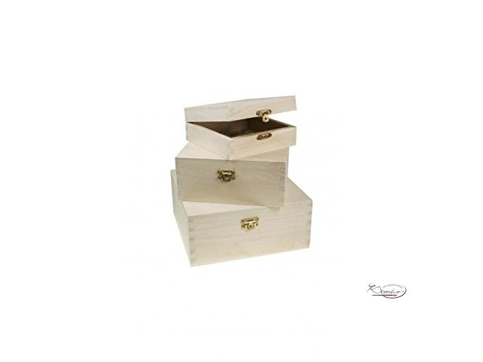 Dřevěná krabička 34610 15x15x9 cm