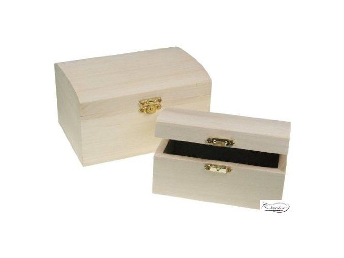 Dřevěná krabička 34600 15x10x8 cm zaoblená