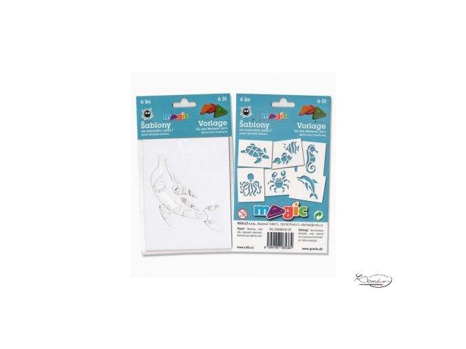 Magic papírové šablony sada I - Mořská zvířata