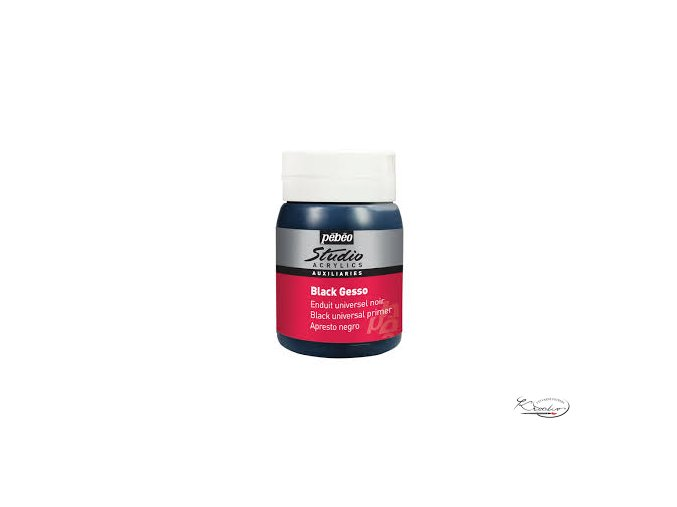 Studio Acrylics Black gesso 500ml