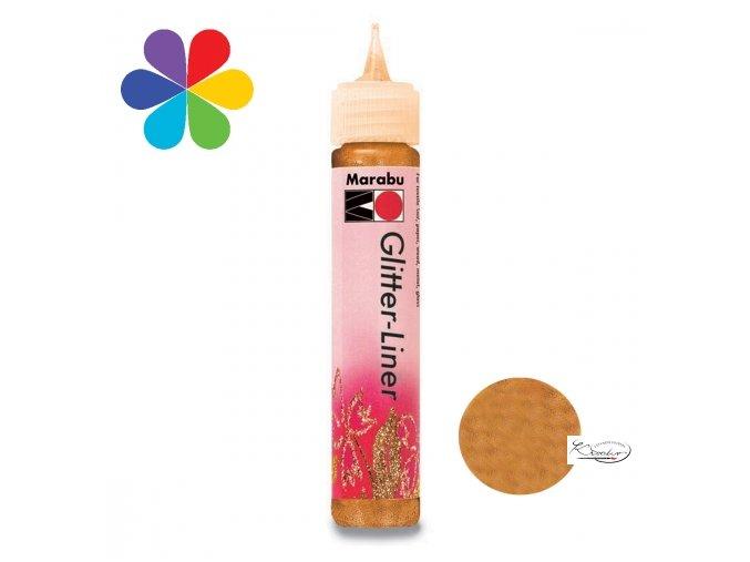 Glitter Liner - 525 Mandarinkový