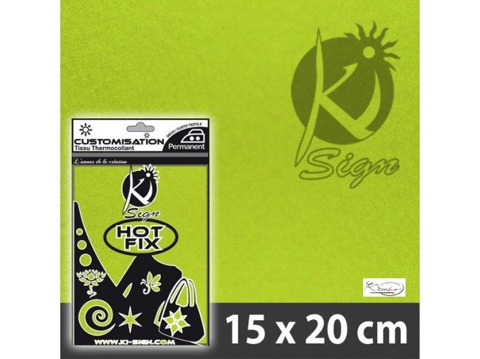 Fólie nažehlovací samet -06 Zelená světlá