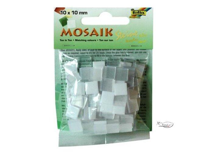 Mozaika plastová 10x10 mm - Bílá