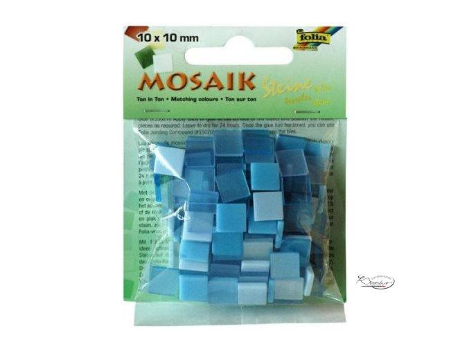 Mozaika plastová 10x10 mm - Modrá