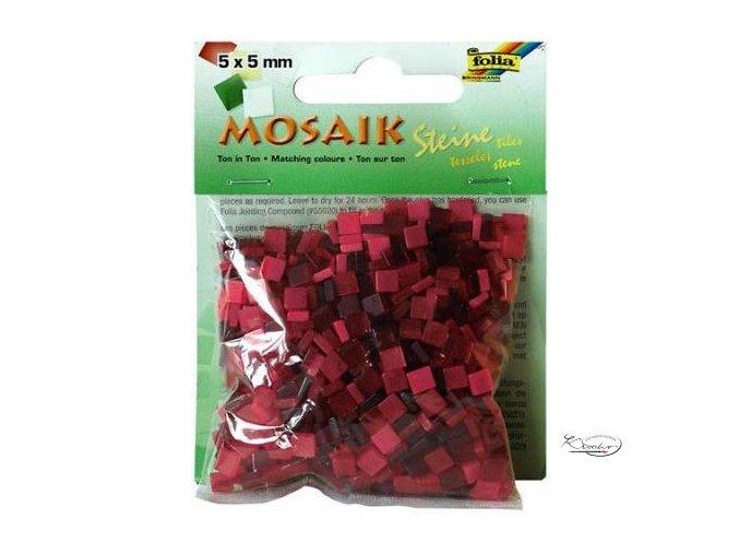 Mozaika plastová 5 x 5 mm - Červená
