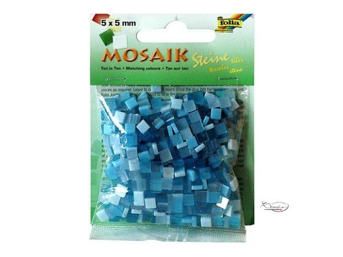 Mozaika plastová 5 x 5 mm - Modrá