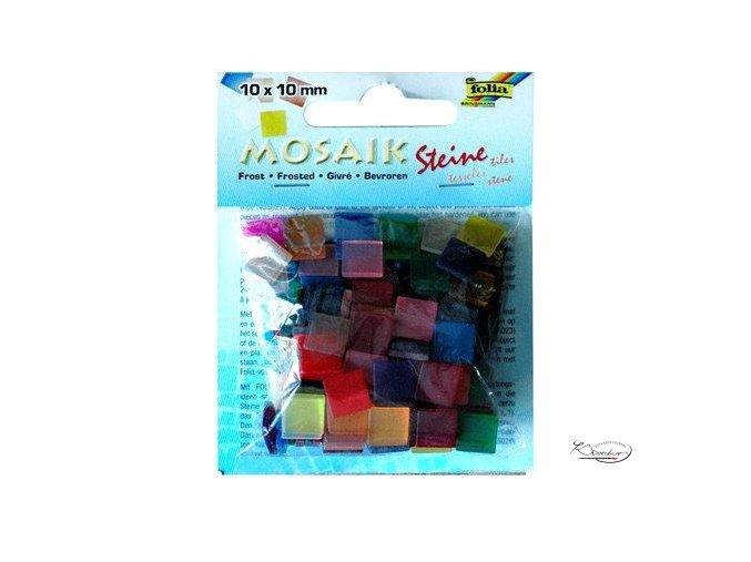 Mozaika plastová 10 x 10 mm - Ledová Mix barev