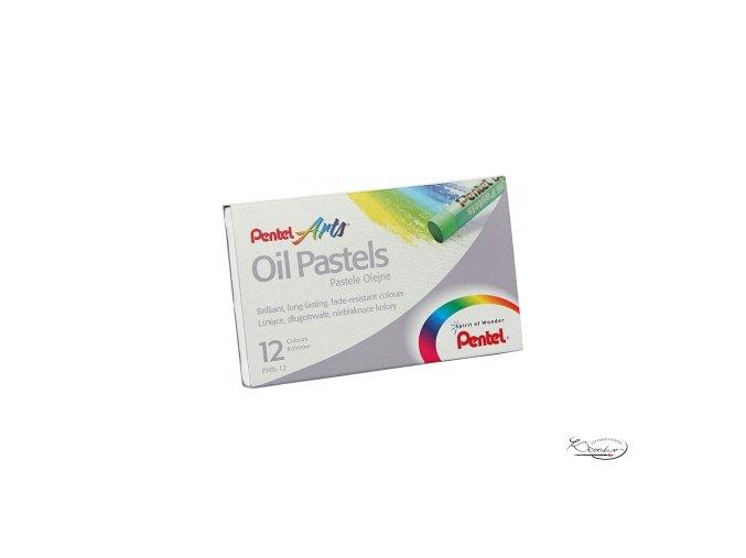Pentel Arts Oil Pastels 12