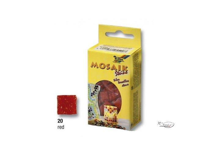 Mozaika skleněná 10 x 10 mm - Červená