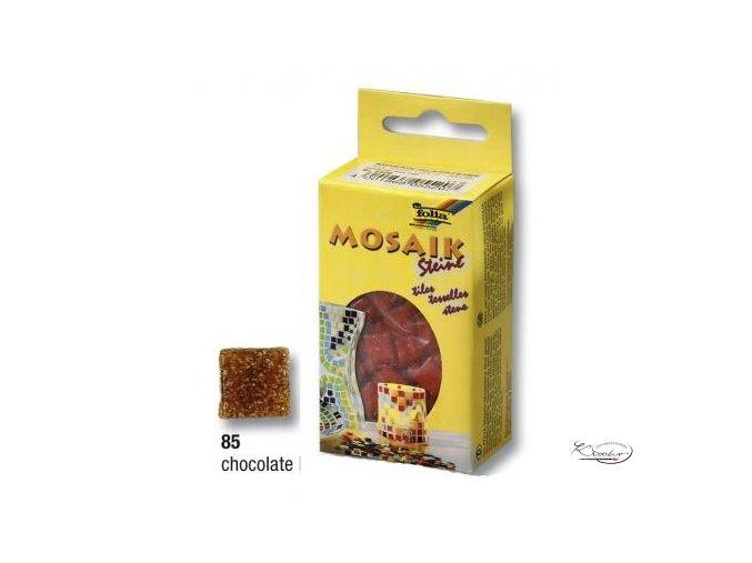 Mozaika skleněná 10 x 10 mm - Hnědá čokoládová