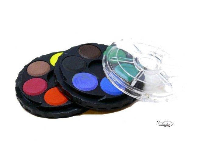 Vodové barvy kulaté 12