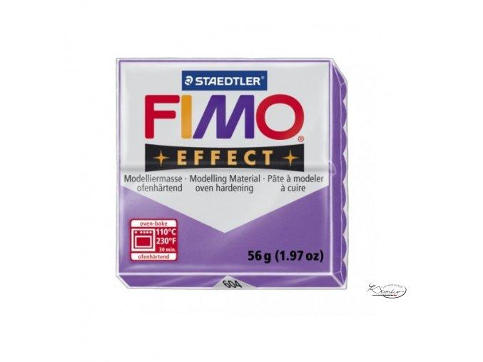 Fimo hmota Effect Transparent - 604 Fialová