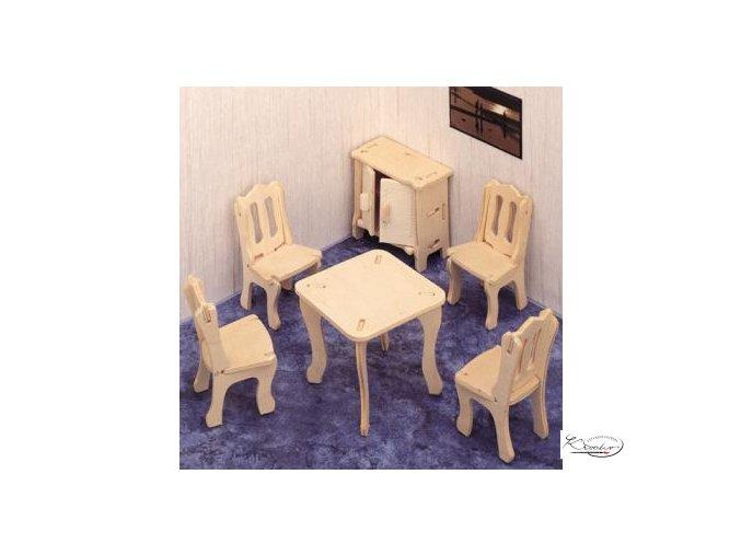 Dřevěná skládačka 3D puzzle - Jídelna