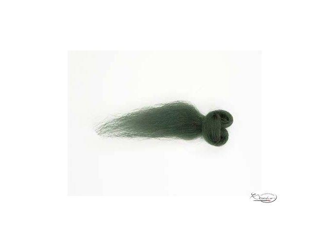 Ovčí vlna česaná 20g - 45 Zelená tmavá