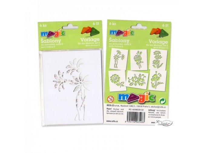 Magic papírové šablony sada S - Květiny II