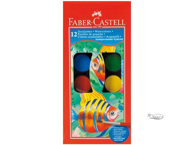Vodové barvy Faber - Castell 12 ks / 30 mm