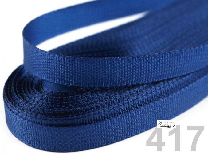 Stuha taftová - 9 mm x 10 m - Modrá
