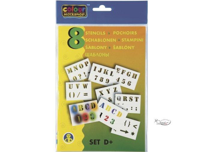 Papírové šablony - Číslice a písmena D+