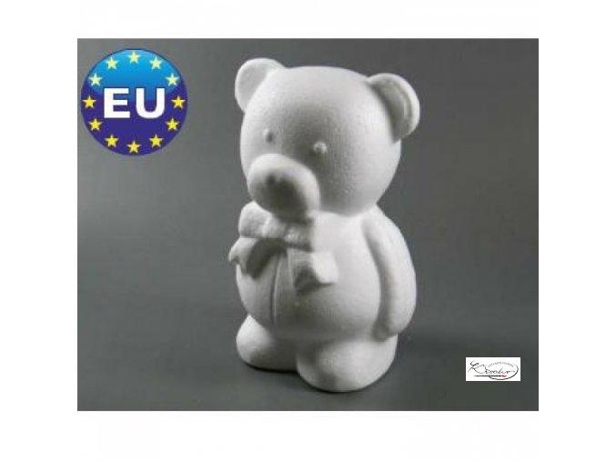 Polystyren Medvěd s mašlí 20cm