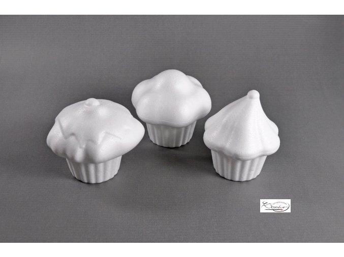 Polystyren Muffin 8 cm