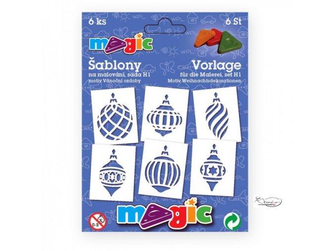 Magic papírové šablony sada H1 - Vánoční ozdoby