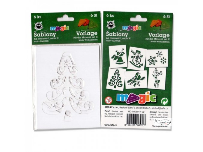 Magic papírové šablony sada H - Vánoce