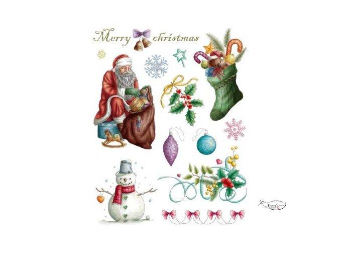 Gelová razítka - Vánoce