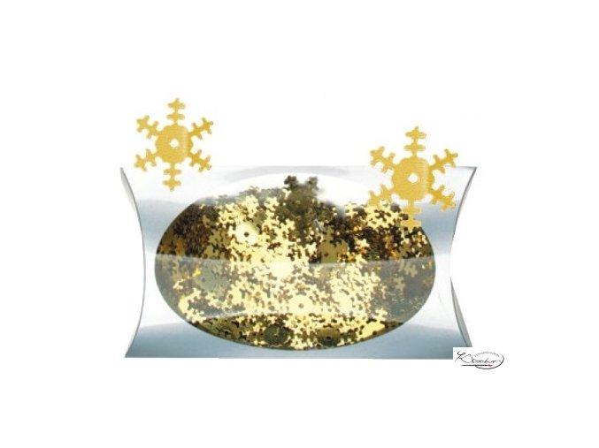 Konfety - vločky zlaté 20g
