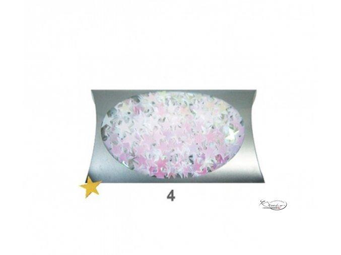 Konfety - hvězdičky bílé 20g