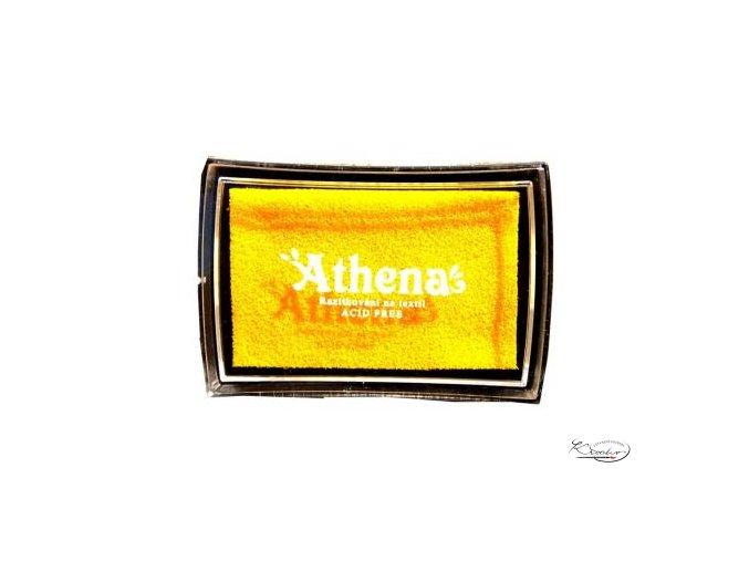 Polštářek pro razítkování na textil - žlutý