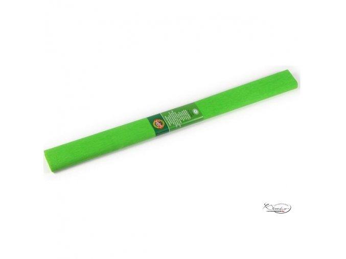 Krepový papír - světle zelený 200x50cm
