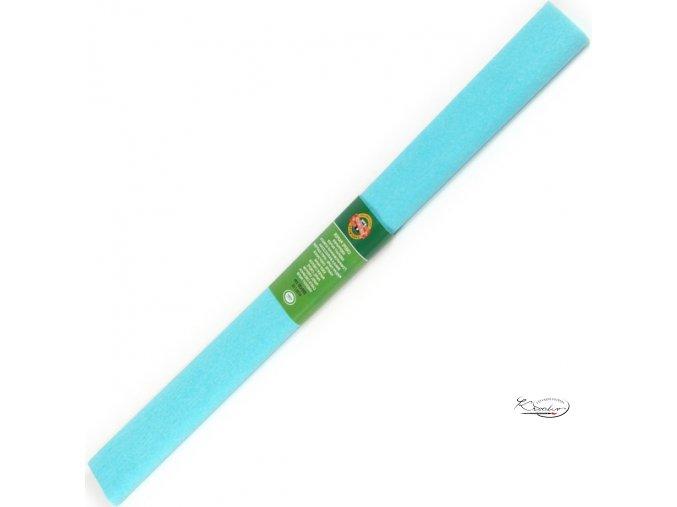 Krepový papír - modrý azurový 200x50cm