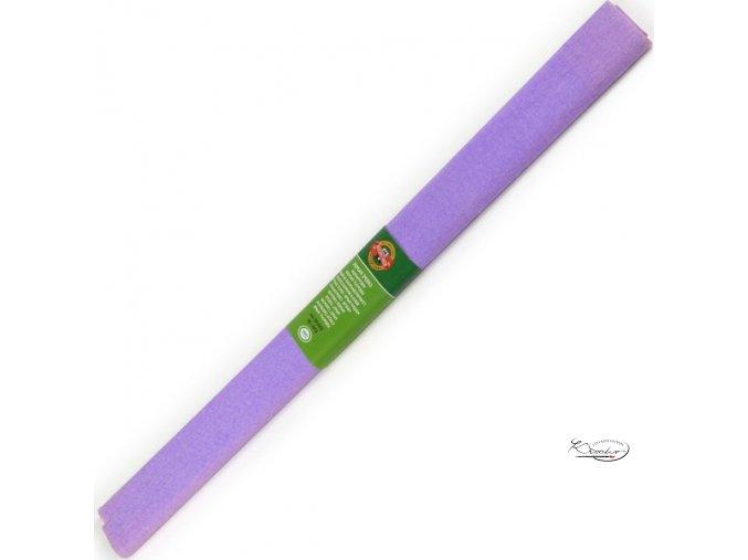 Krepový papír - světle fialový 200x50cm