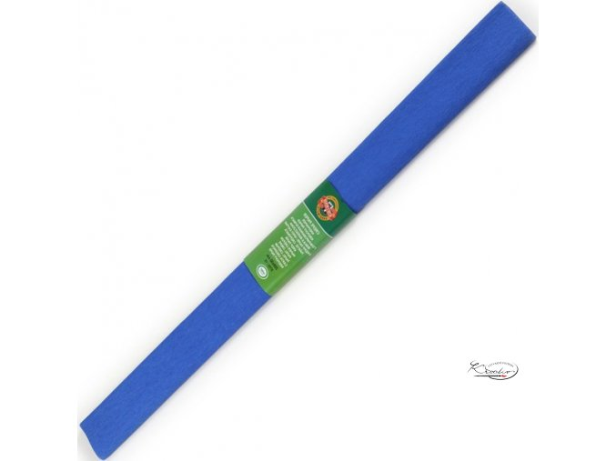 Krepový papír - modrý 200x50cm