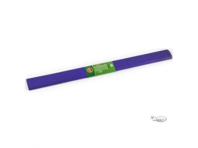 Krepový papír - tmavě fialový 200x50cm