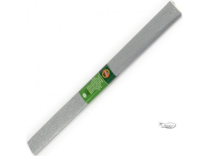 Krepový papír - stříbrný 200x50cm