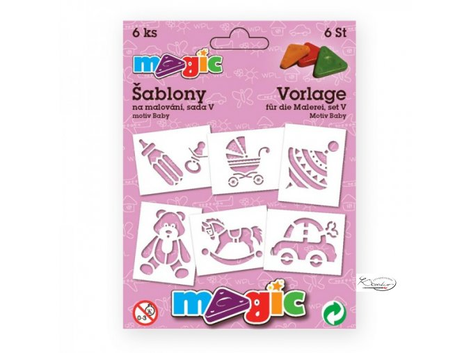 Magic papírové šablony sada V - Baby
