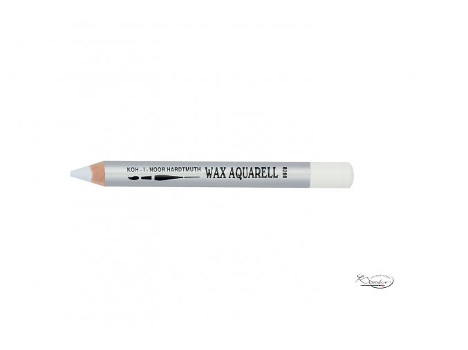 Wax Aquarell pastelka - 01 bílá