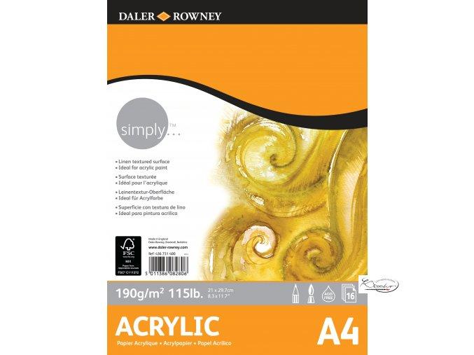 Blok Simply Acrylic A4