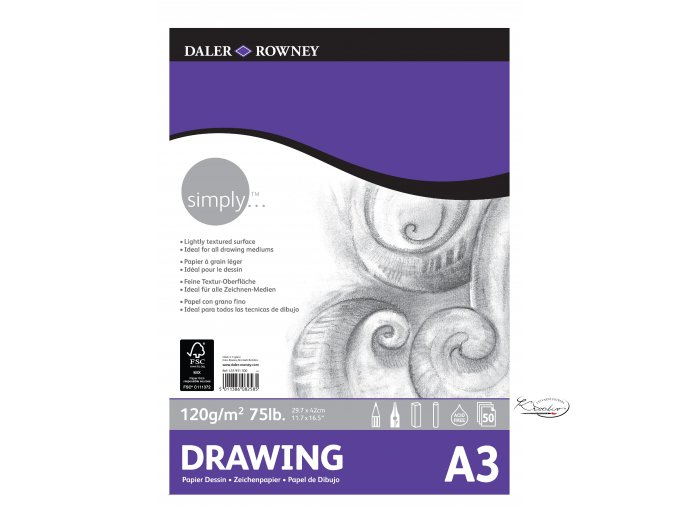 Blok Simply Drawing A3