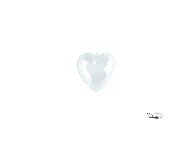 Plastové srdce 3D / 10cm