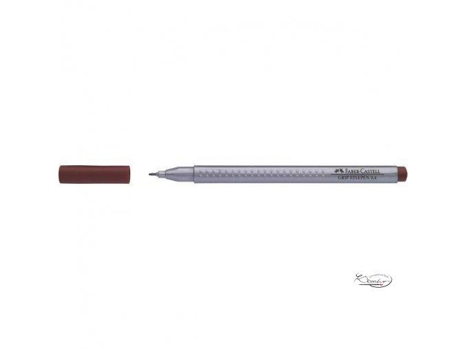 Grip Finepen 0,4 mm - hnědý