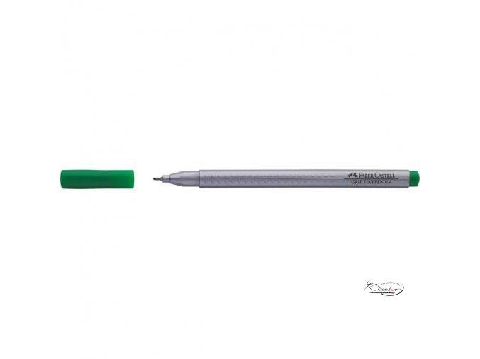 Grip Finepen 0,4 mm - smaragdově zelený