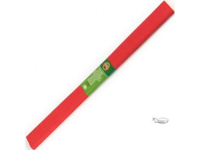 Krepový papír - červený 200x50cm