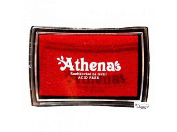 Polštářek pro razítkování na textil - červený