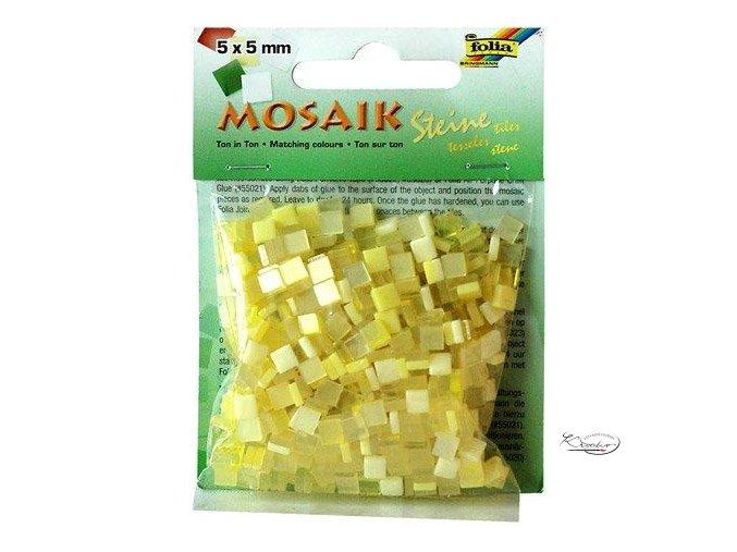 Mozaika plastová 5 x 5 mm - Žlutá