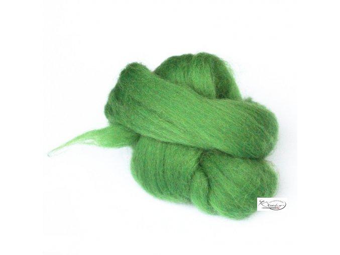 Ovčí vlna česaná 20g - 44 Zelená jarní
